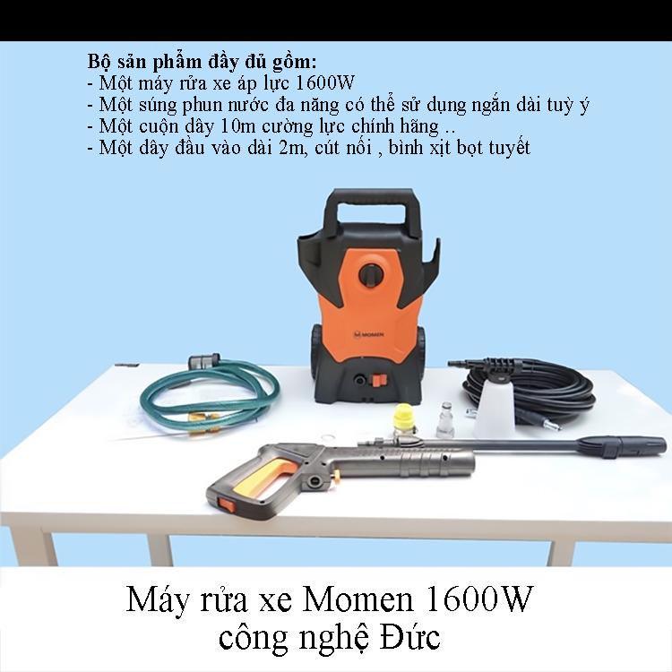 Bộ sản phẩm đầy đủ máy rửa xe Momen 1600W