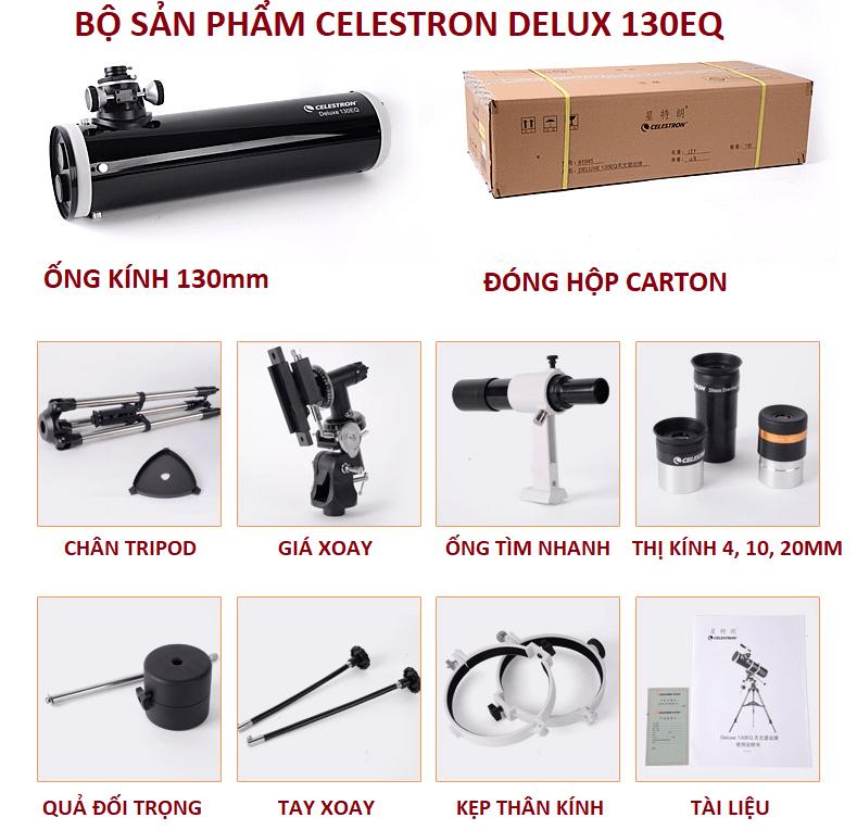 Đóng gói Celestron Deluxe 130EQ